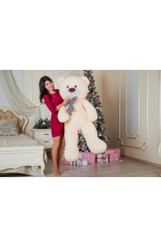 Большая мягкая игрушка - мишка Тедди бежевый