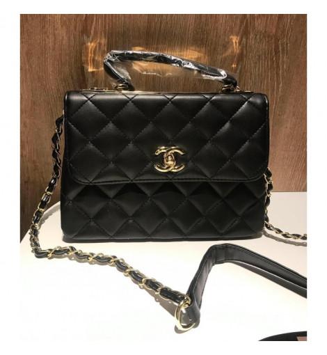 Невероятно красивая женская сумочка Chanel black 260