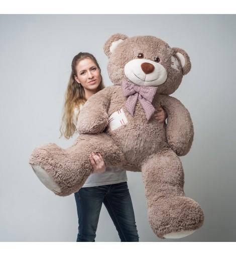 Купить плюшевого медведя Бублик с латками