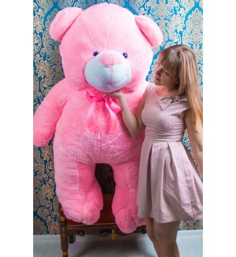 Розовый мишка Веня 200 см