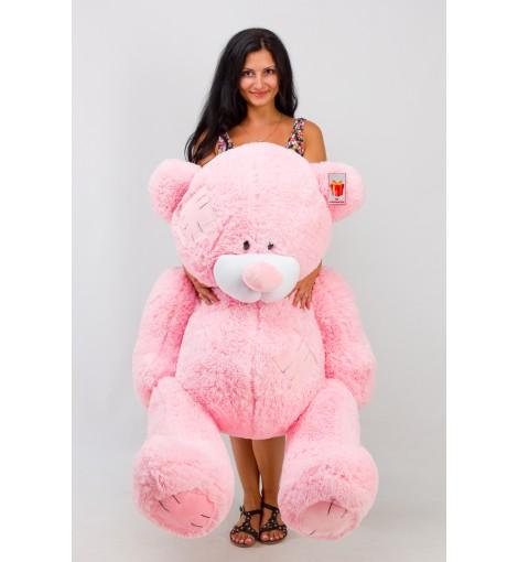 Плюшевый мишка Гриша розовый 150 см купить