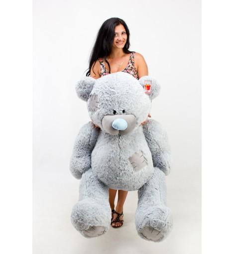 Купить большого мишку девушке Гриша серый 150 см
