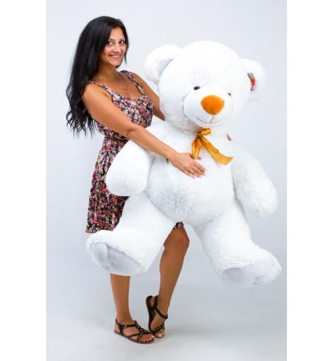 Большой белый плюшевый мишка Томми 150 см купить