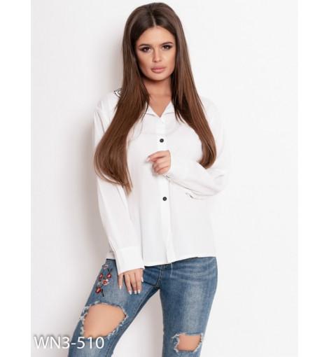 Белая рубашка с двойным воротником